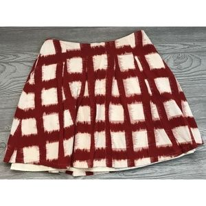 Liz Claiborne Women's Lined Skirt Red White Size 6